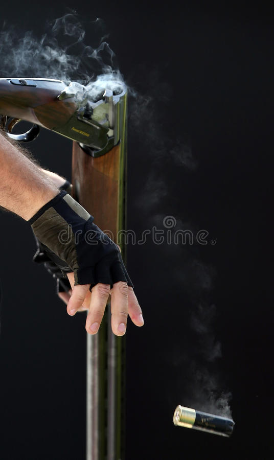 Shel从枪抛出了 免版税库存照片