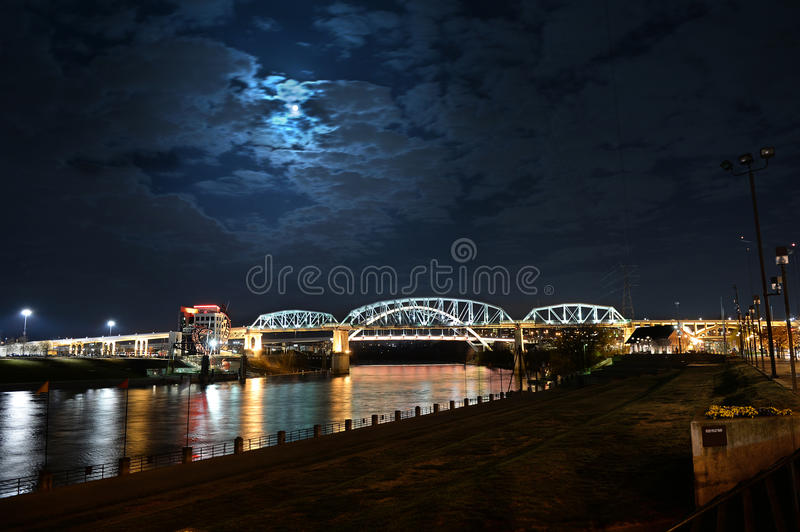 Shelby Bridge in Nashville Tennessee royalty free stock image