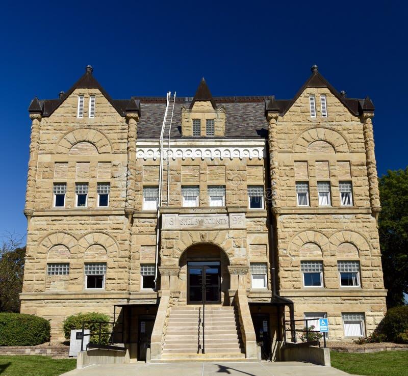 Shelby County Courthouse lizenzfreies stockfoto