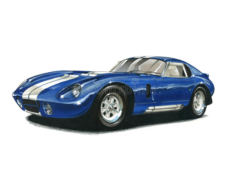 Shelby Daytona Cobra Coupe royalty-vrije illustratie