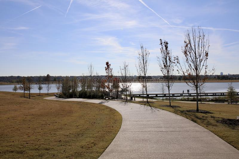 Shelby Farms River Walk, Memphis Tennessee stock photos