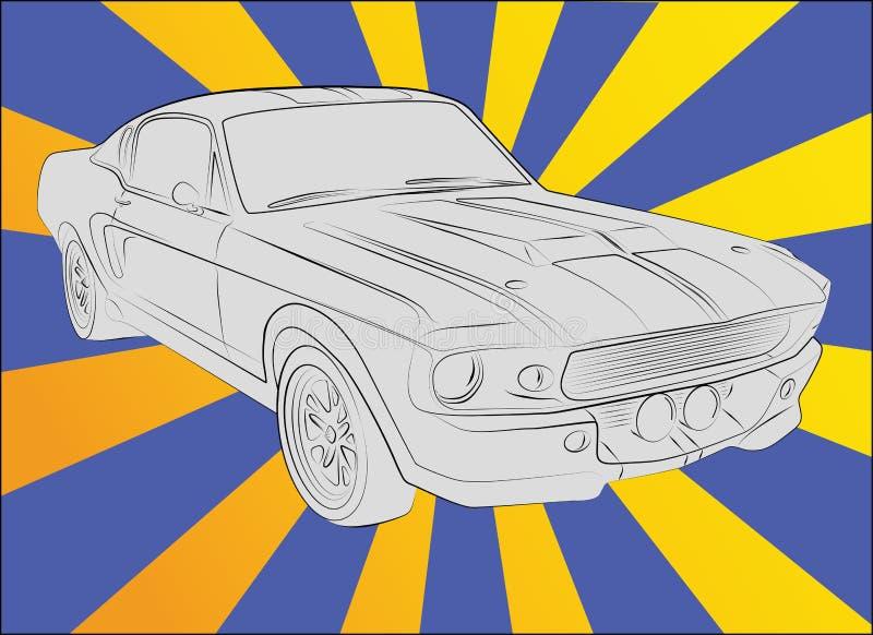 Shelby GT 500 eleanor 1967 ilustração royalty free