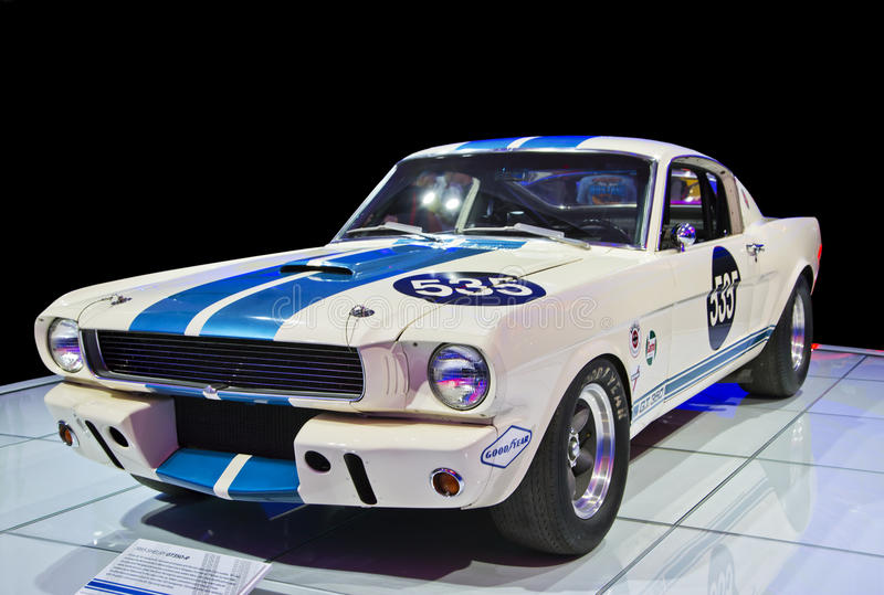 Isolated Sports Car - Classic 1965 Shelby GT350-R royalty free stock photography