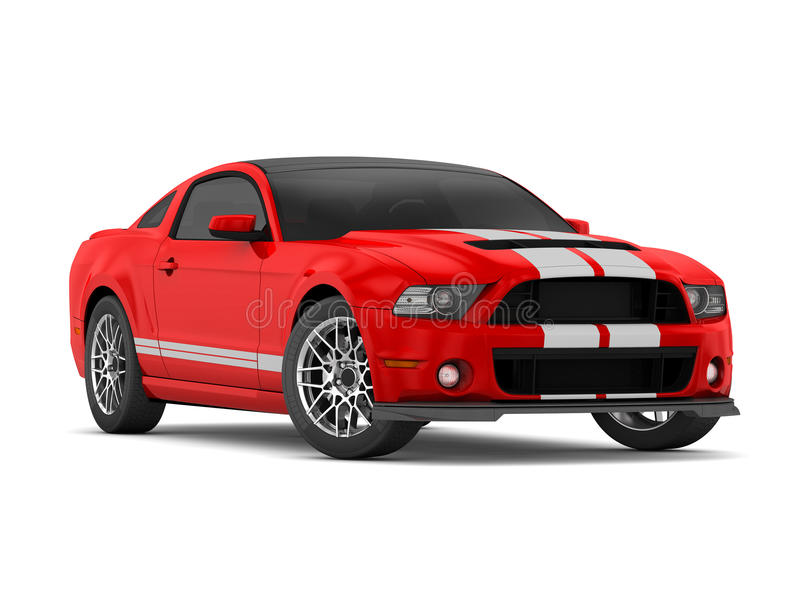 Shelby Mustang GT500 (2013) royalty free stock photo