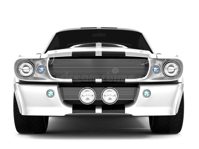 shelby mustang gt500 royalty ilustracja