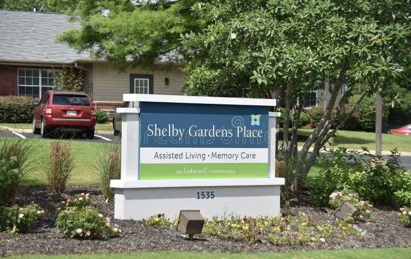 Shelby ogródów miejsce Pomagający utrzymanie, Memphis, TN obraz stock