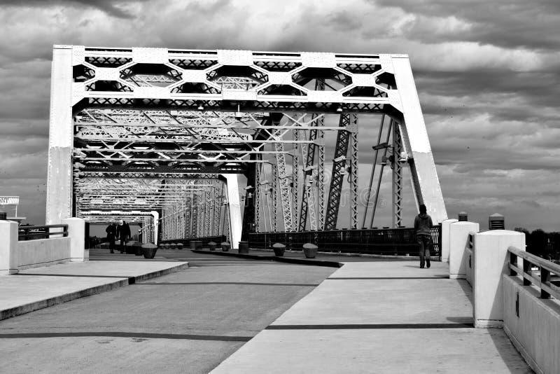 Shelby Pedestrian Bridge Nashville, Tennessee stock images
