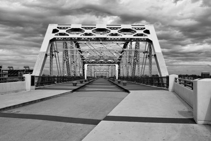 Shelby Pedestrian Bridge Nashville, Tennessee stock photo