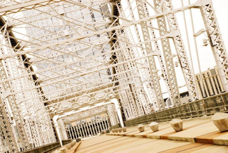 Shelby Street Bridge Nashville, TN stock image