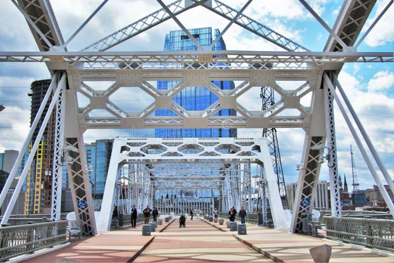 Shelby street pedestrian bridge royalty free stock image