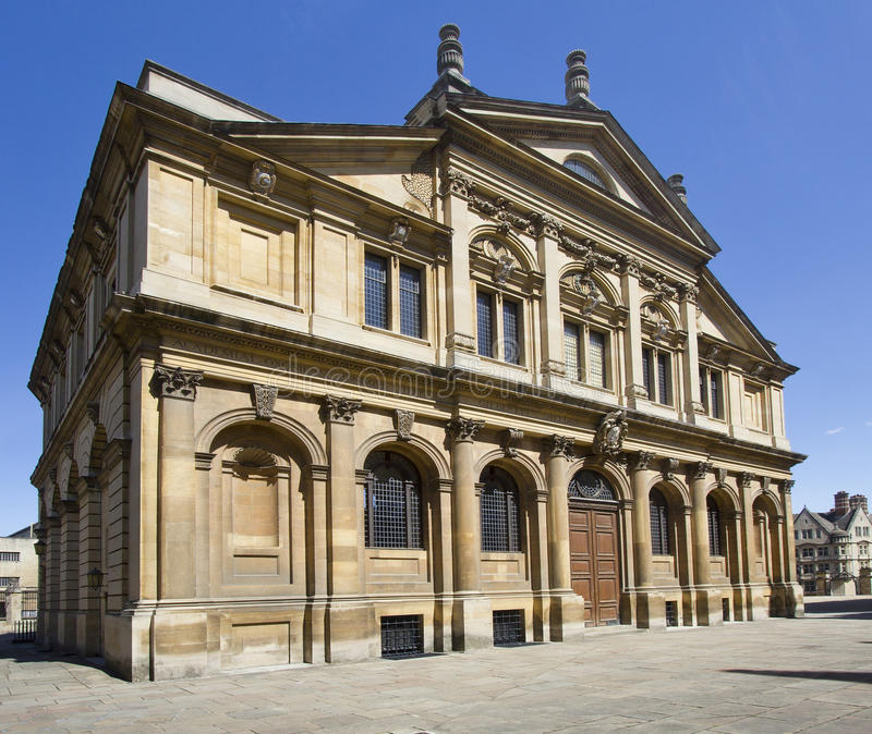 Sheldonian teater i Oxford royaltyfria foton