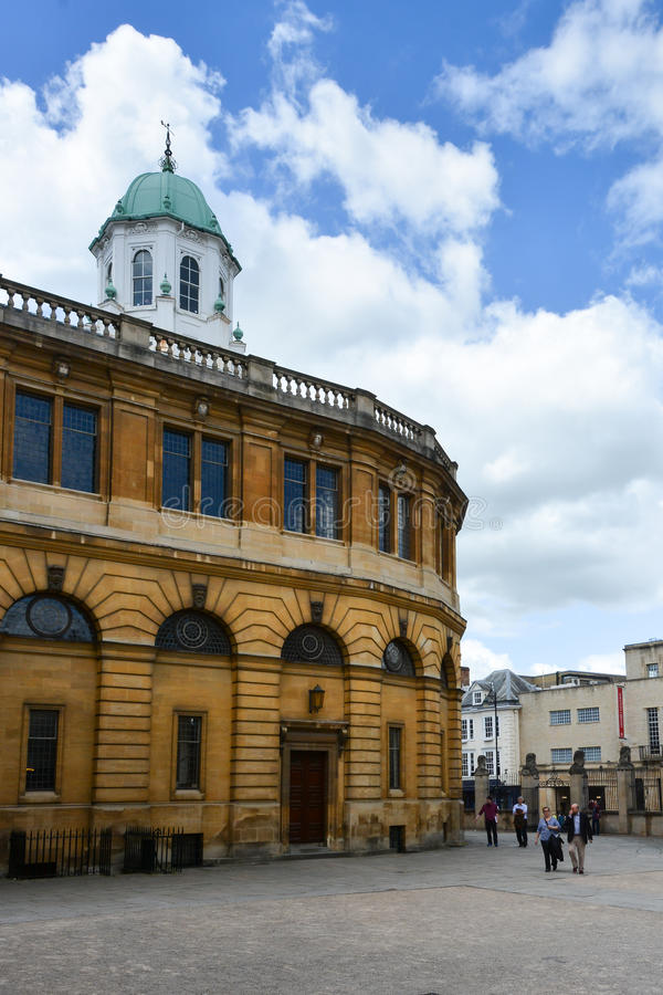 Sheldonian teater, Oxford royaltyfri bild