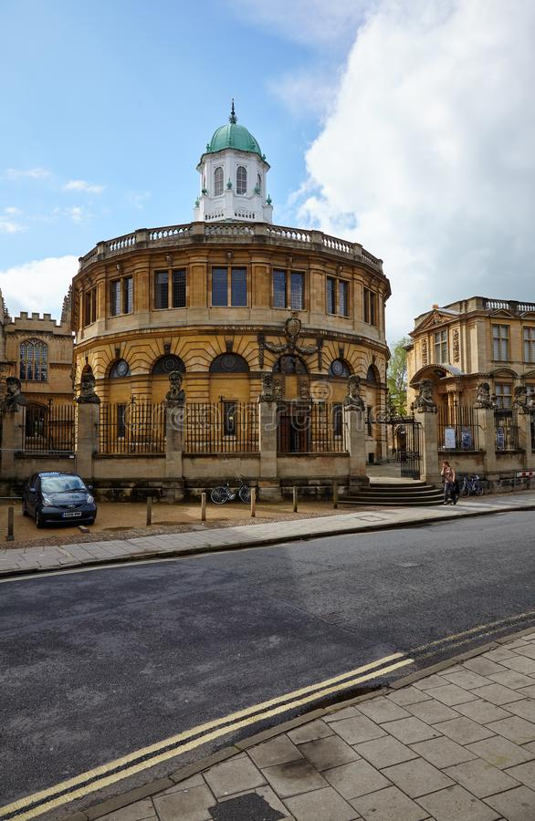 Sheldonian teatr Uniwersytet Oksford, Oxford, Anglia fotografia stock