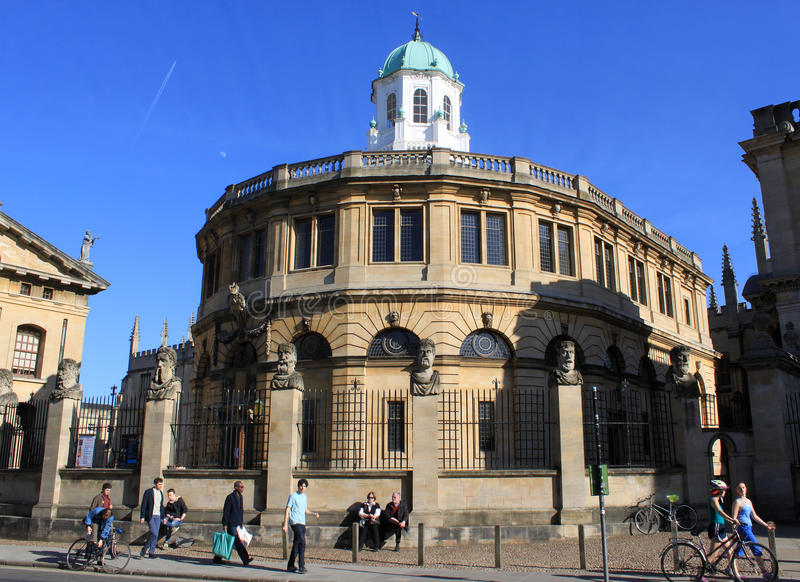 Sheldonian Theatre, Broad Street, Oxford royalty free stock photography