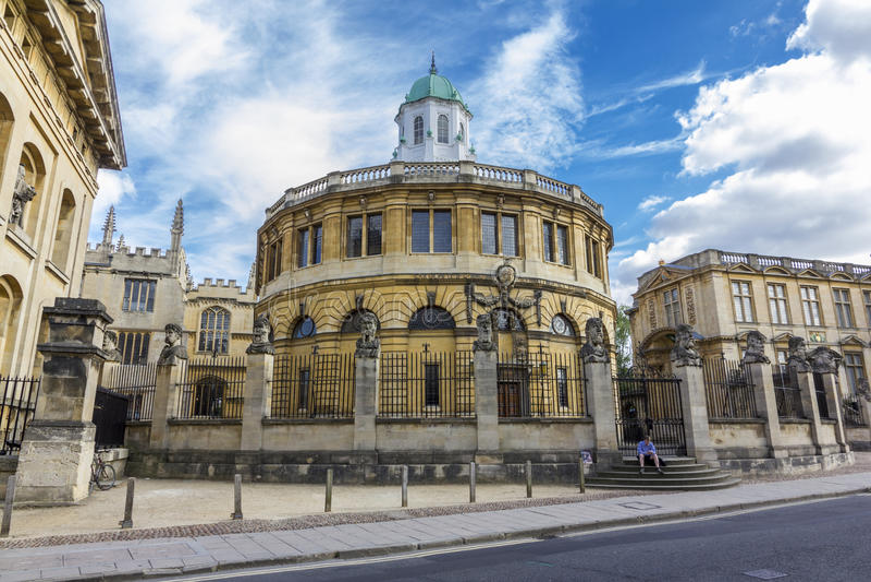 Sheldonian Theatre, Oxford, Anglia obrazy stock