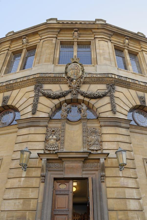 Sheldonian theatre Oxford, Anglia zdjęcie stock