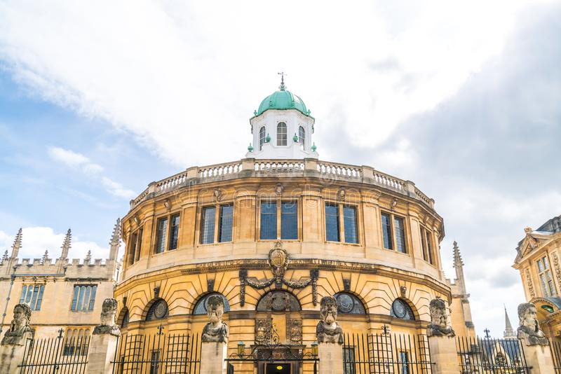 Sheldonian Theatre in Oxford - England, United Kingdom. Beautiful Architecture at Sheldonian Theatre in Oxford - England, United Kingdom royalty free stock image