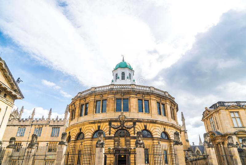 Sheldonian Theatre in Oxford - England, United Kingdom. Beautiful Architecture at Sheldonian Theatre in Oxford - England, United Kingdom stock image