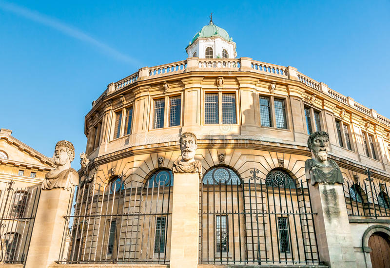 The Sheldonian Theatre situated in Oxford city centre, United Kingdom stock photo