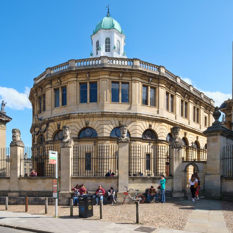 The Sheldonian Theatre at the University of Oxford royalty free stock images