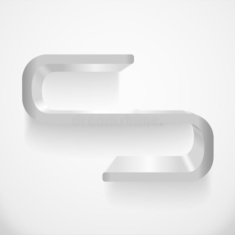 Shelf. Illustration of gray shelf on the wall vector illustration