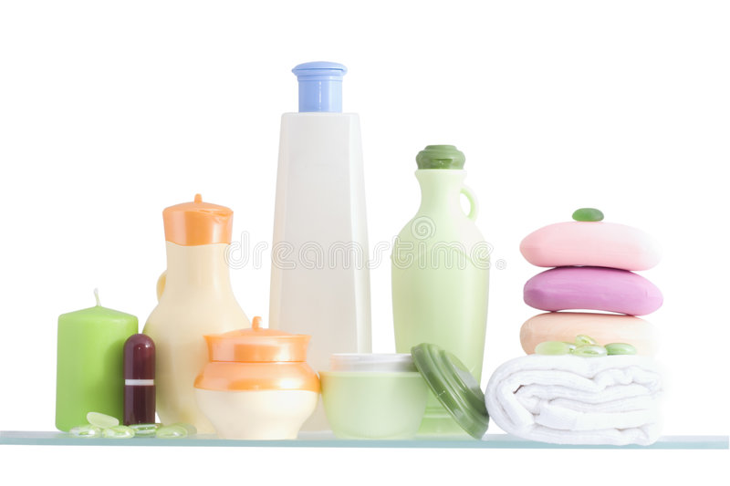 Download Shelf In A Bathroom Royalty Free Stock Photos - Image: 5146248