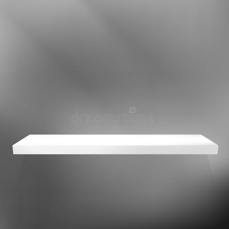 Download Shelf On Black For Exhibition. Stock Vector - Image: 33157429