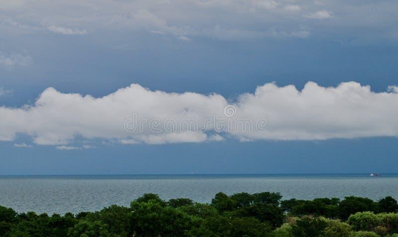 Shelf Cloud Over Lake Michigan royalty free stock photos