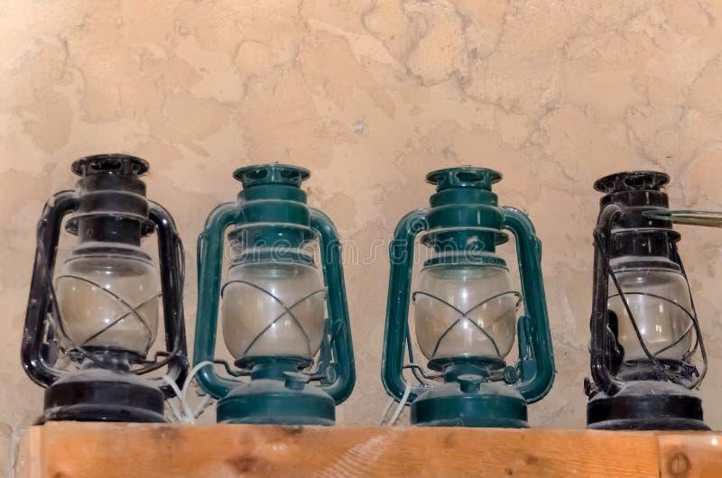 Download Shelf Of Dusty Lanterns Stock Image - Image: 24852081