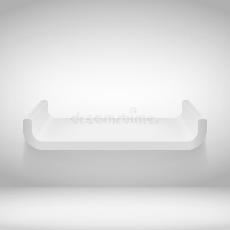 Shelf. Empty shelf on the wall vector illustration