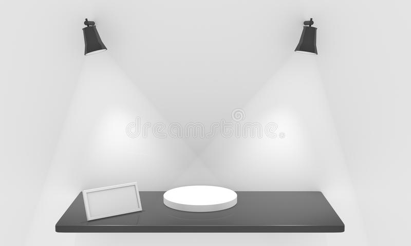 Download Shelf for exhibit stock illustration. Image of frame - 23653257