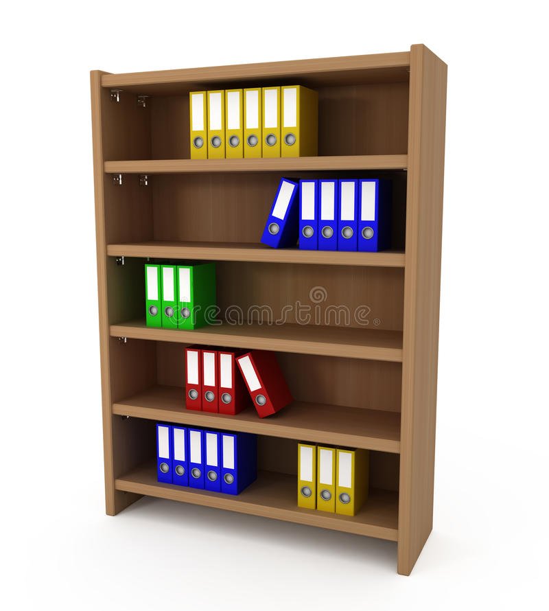 Download Shelf With Files Folders stock illustration. Image of indoors - 19424675