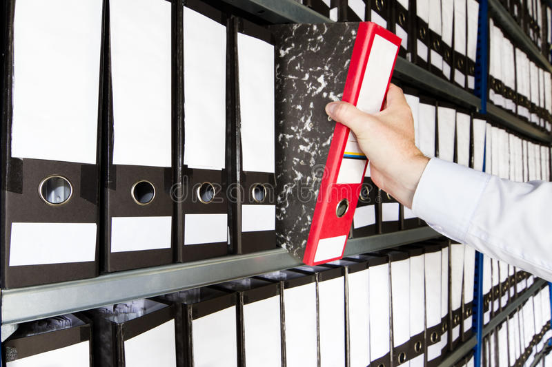 Download Shelf with Folders stock photo. Image of filing, information - 16849250