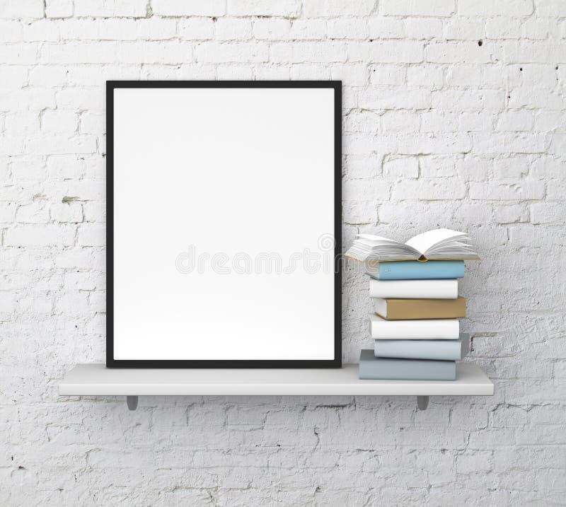 Shelf with frame royalty free illustration