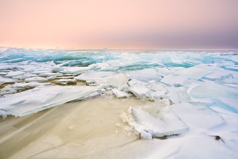 Download Shelf Ice On Ijsselmeer In Winter Stock Image - Image of lake, down: 29379107