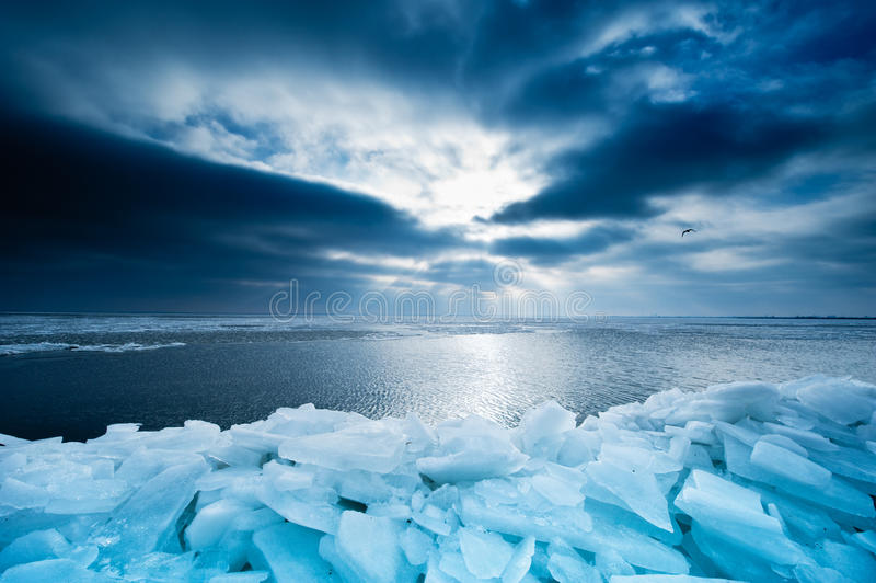Download Shelf Ice And Sunset In Marken Royalty Free Stock Image - Image: 16720686