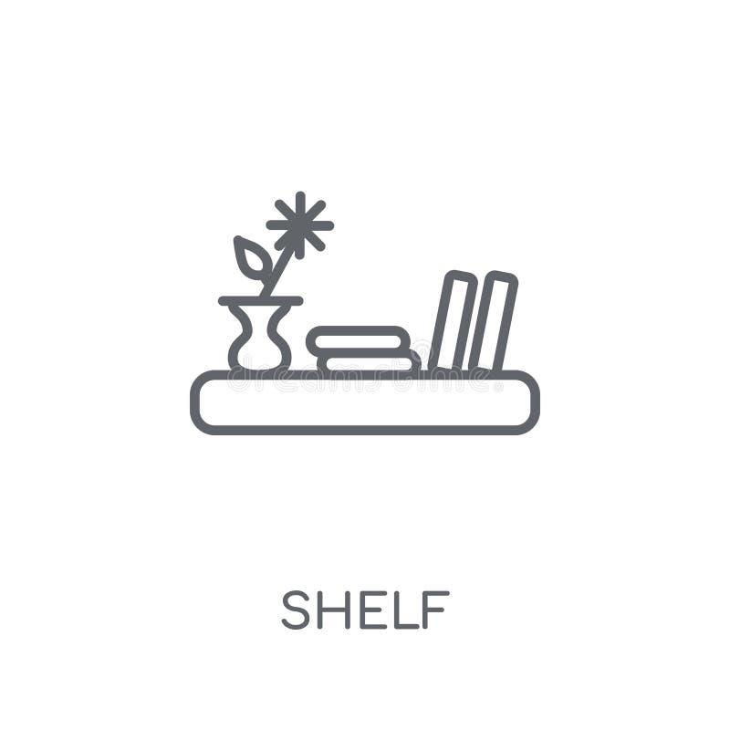 Shelf linear icon. Modern outline Shelf logo concept on white ba vector illustration