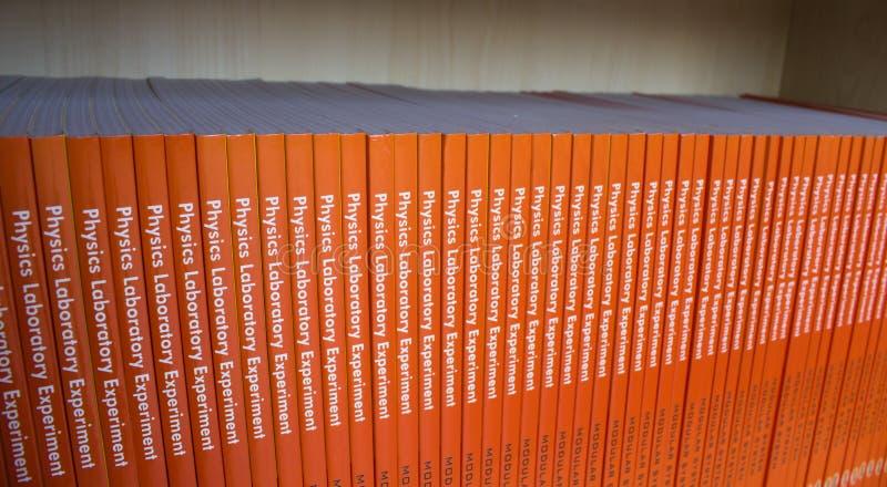 Shelf Of Physics Books Royalty Free Stock Image