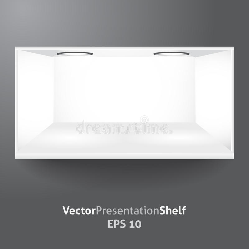 Shelf For Product Presentation With Light 2 Royalty Free Stock Photos