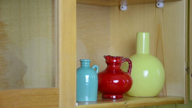 Shelf Small Vases Stock Video Footage Image Of Decorative 35990561