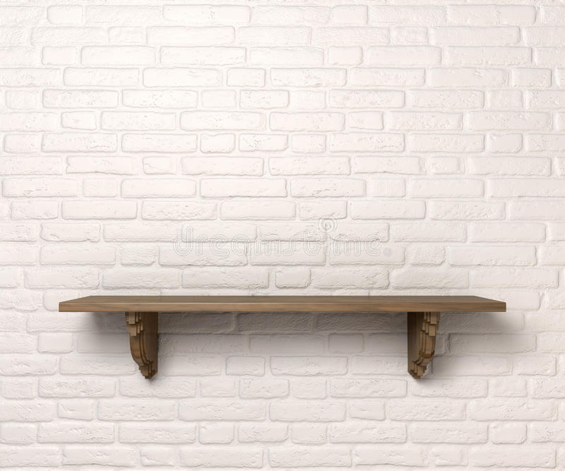 Shelf On A Wall Front stock photography