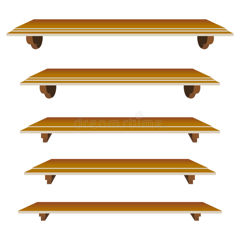 Shelfs stock illustration