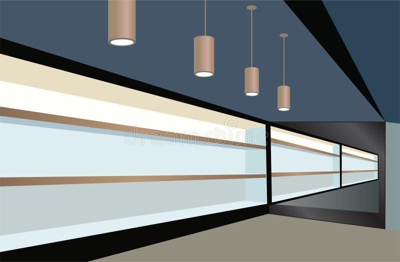 Shelfs in opslagvector stock illustratie