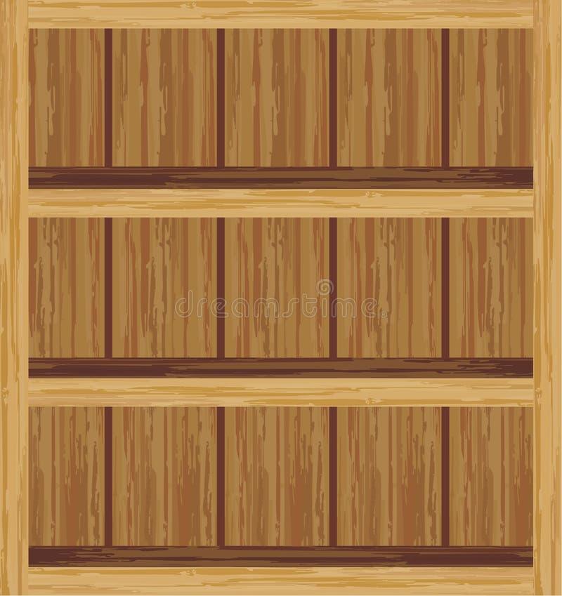 Shelfs vazios ilustração do vetor