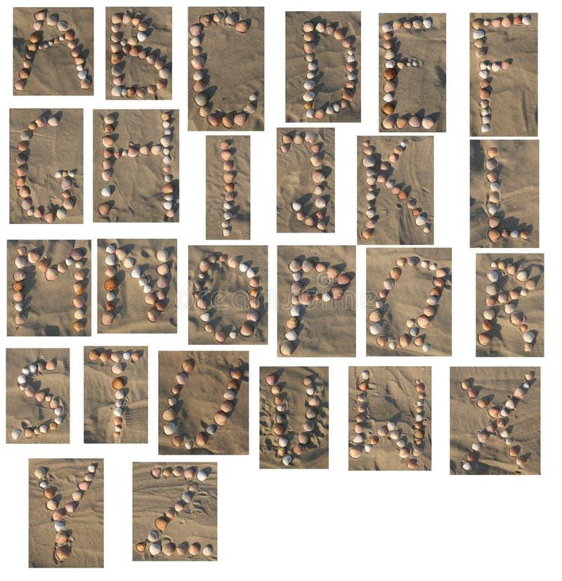 Shell Alfabet  stock afbeeldingen