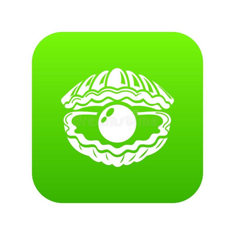 Shell avec l'icône de perle, style simple illustration libre de droits