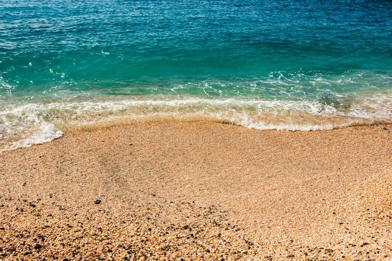 Shell Beach famosa, nell'isola i Caraibi di St Bart dell'isola della st Barth immagini stock libere da diritti