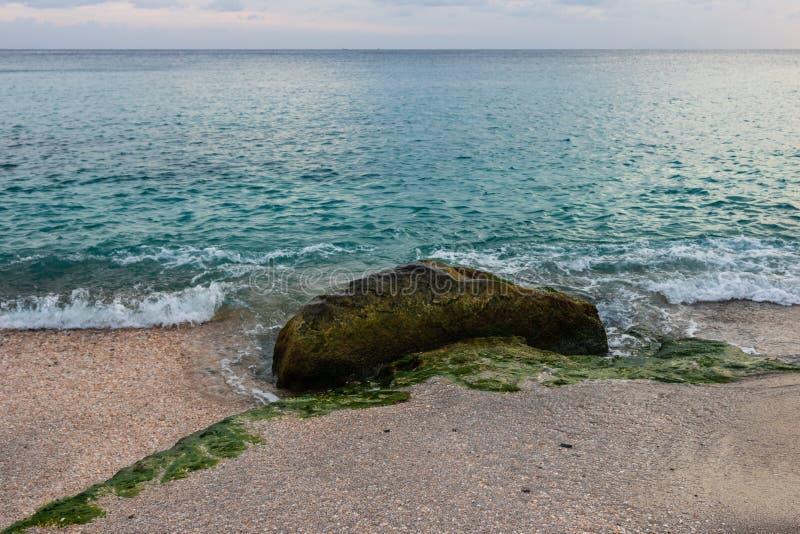 Shell Beach famosa, nell'isola i Caraibi di St Bart dell'isola della st Barth fotografia stock libera da diritti
