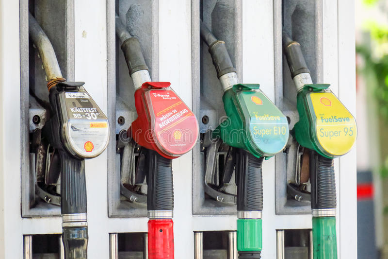 Shell-benzinepomp stock fotografie