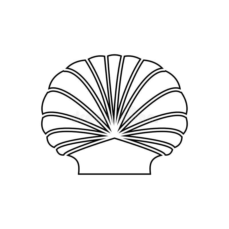 Shell c'est icône noire illustration libre de droits
